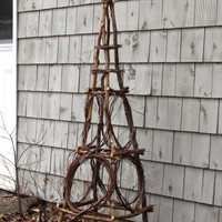 Rustic Birch Garden Obelisk from Eco Friendly Bentwood Twigs