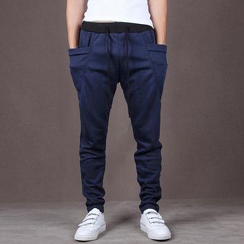 New Arrival Men Hip Hop Pants Men Boys Full Length Cotton Sweatpants M-XXL
