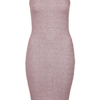 PETITE Ribbed Midi Bodycon Dress - Berry Red