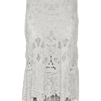 Donna Karan New York - Asymmetric macramé lace skirt