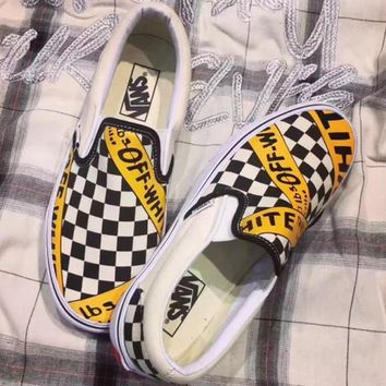 Vans Off-White Checkerboard Slip-On Sneaker e179184c4fd9
