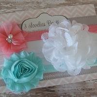 Baby Headband Gift Set..Newborn Headband Gift Set.Baby Headbands..Baby Girl Headband..Infant Headband..Baby Headband..Headband