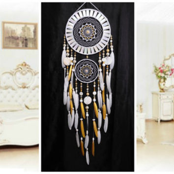 NOW Dreamcatcher White gold mosaic Dream Catcher Large Dreamcatcher New Dream сatcher gift idea pearlescent dreamcatcher boho dreamcatcher