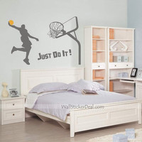 Just Do It Dunk Basketball Wall Stickers – WallStickerDeal.com