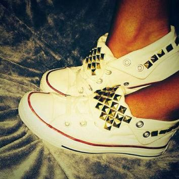 CREYUG7 SALE!!! Studded Converse Shoes ANY COLOR