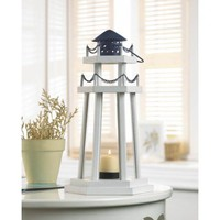 Wooden Light House Candle Lantern