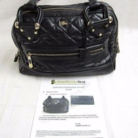 CERTIFIED AUTHENTIC $1598 BURBERRY Women's Black Quilted Leather Bag