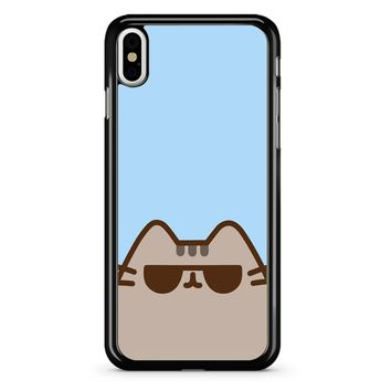 Pusheen The Cat Face iPhone X Case