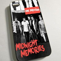 One Direction Midnight Memories New Album - Print on Hardplastic for iPhone 4/4s and 5 case, Samsung Galaxy S3/S4 case.