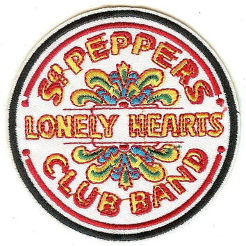 The Beatles Iron-On Patch Sgt Peppers Lonely Hearts Club Band