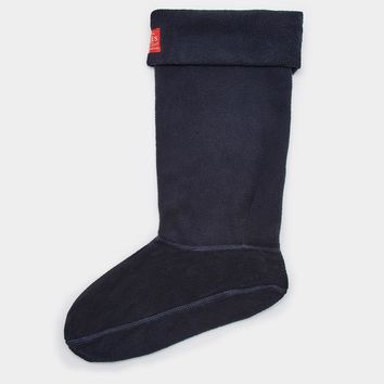 Welton Marine Navy Fleece Rain Boot Socks | Joules US