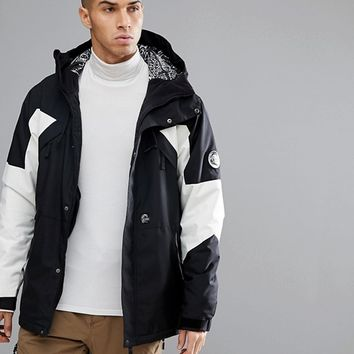 O'Neill Reissue 91 Extreme Ski Jacket in Black/White at asos.com