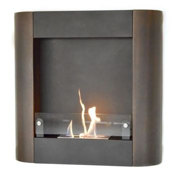 Nu-Flame Focolare Muro Noce Wall Mounted Ethanol Fireplace (NF-W3FON)