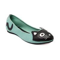 Womens TUK Kitty Face Flat, Mint | Journeys Shoes
