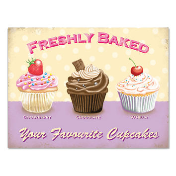 Cupcakes Freshly Baked Favorite Bakery Sign