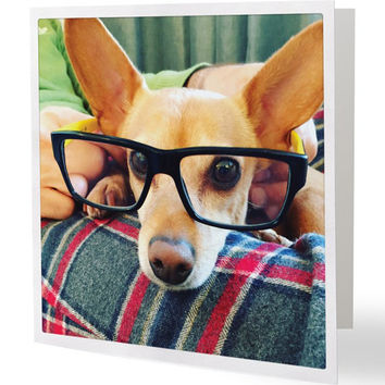 Cute Dog 5x5 Square Blank Greeting Card Perfect for all Occasions Dog Lovers Friendship Card Thank You Card Funny Card Cute Card
