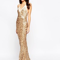 The Crystal Collection by Vesper Odessy Sequin Maxi Dress at asos.com