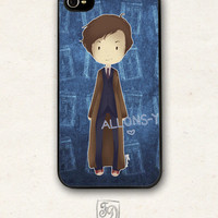 Iphone 4 / 4s hard or rubber case Doctor Who / cute 10th DOCTOR / TARDIS