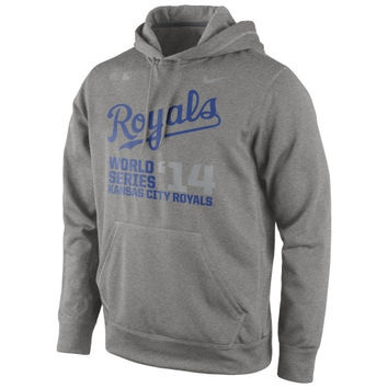 Kansas City Royals Nike 2014 MLB World Series Bound KO Performance Hoodie - Royal Blue