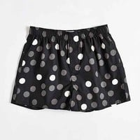 Printed Dot Woven Boxer- Washed Black