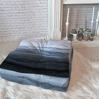 Monika Strigel WITHIN THE TIDES STORMY WEATHER GREY Floor Pillow Square