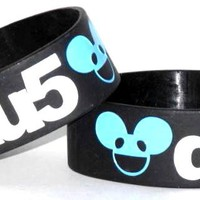 Deadmau5 Rubber Wristband - Black Logo
