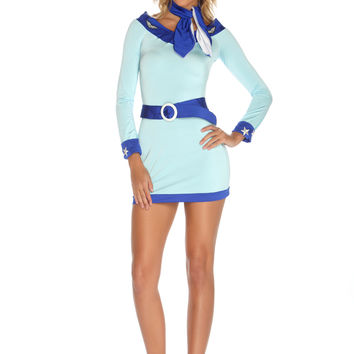 Blue Sky High Hostess Sexy Costume