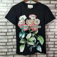 """Gucci""  Woman Fashion Casual Short-Sleeved  Printed Round Neck Top"
