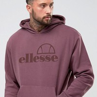 Ellesse Oversized Hoodie With Large Logo In Purple at asos.com