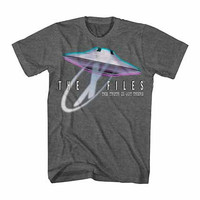 X-Files Big Saucer Gray T-Shirt