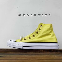 Kuyou Fa19630 Converse All Star Pastels Hi Yellow High Top Canvas Shoes