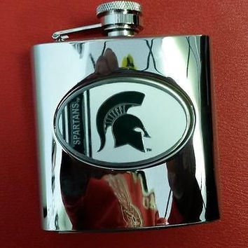 NCAA Michigan State Spartans 6oz Stainless Steel Hip Flask