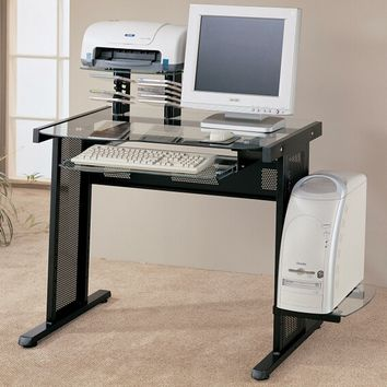 A.M.B. Furniture & Design :: Office Furniture :: Desks :: Computer workstation with CPU tray and pull out keyboard tray