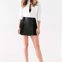 Cooperative Bernice Suede Panel Leather Mini Skirt - Urban Outfitters