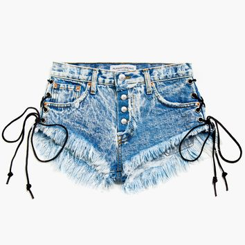 Lace Up Wildest Acid Babe Shorts