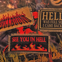 Hot As Hell Handmade Canvas Patches