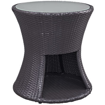 Strum Patio Outdoor Patio Side Table Espresso