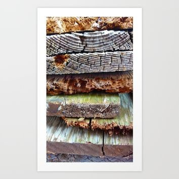 Reclaimed Wood Stack Art Print by Heidi Haakenson