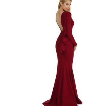 Rosie-burgundy Formal Dress