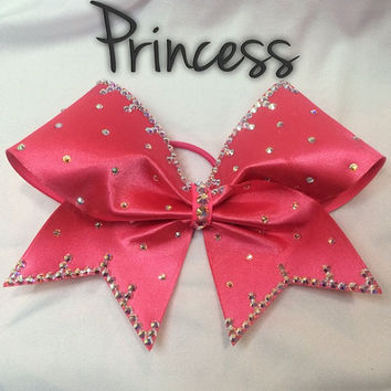 Princess Cheer Bow with Swarovski Crystals