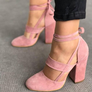 gladiator Zapatos Mujer plus size 35-42 female women shoes woman pumps high heels ankle strap wedding sapato feminine BY17973