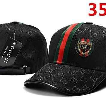 GUCCI Women Men Embroidery Adjustable Travel Hat Sport Cap 3585