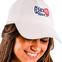 Ladies 'Merica Bow' Baseball Hat