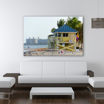 Miami Crandon Park Canvas Print 3 Panels Print Miami Art Wall Deco Fine Art Photography Repro Print for Home and Office Wall Decoration