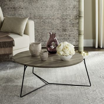 Safavieh Mae Light Grey / Black Coffee Table | Overstock.com Shopping - The Best Deals on Coffee, Sofa & End Tables