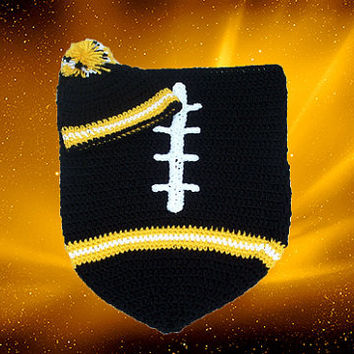 Pittsburgh Steelers Inspired Football Baby Cocoon & Hat (Newborn to 3 months)