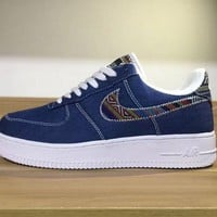 Nike Air Force 1 LV8 Deep Blue For Women Men Running Sport Casual Shoes Sneakers