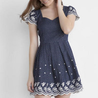 JUN & IVY SWEETHEART EMBROIDERED DRESS