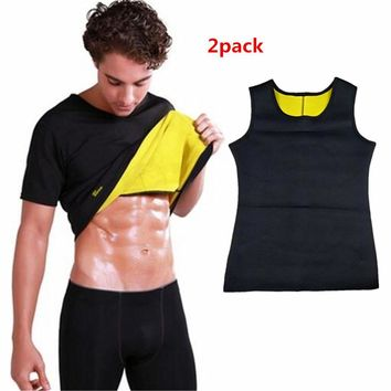 Hot Shapers Men's Compression Slimming Shirt Shirt Body Shapers Waist-Trimmer Slim Shirt Men Women Shaper Thermal Slimming Tops