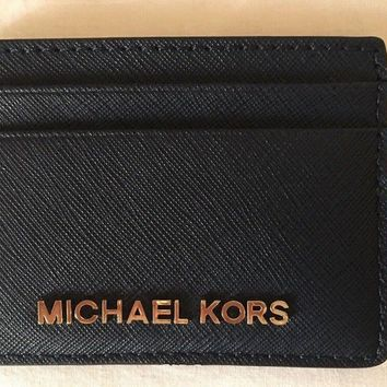 Michael Kors Jet Set Card Holder Ladies Men's Wallet Bag Navy Rrp£40